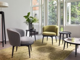 Daphne club style chairs from Porada